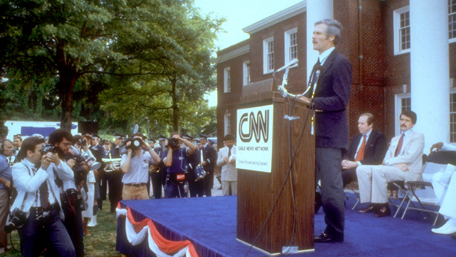 Ted Turner launches CNN